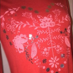 Old Navy Shirts & Tops - Red Heart Print Long Sleeve